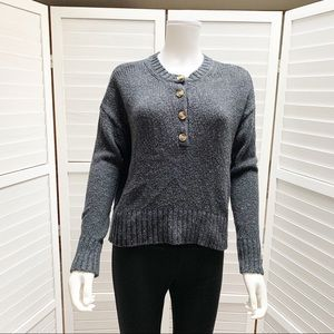 American Eagle Chunky Knit Big Button Sweater XS